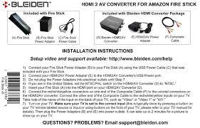 amazon com hdmi to composite av converter for amazon fire