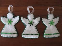 green and white angel ornaments felt christmas ornaments m u2026 flickr