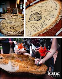 creative guest book ideas rustic tree stump guestbook my wedding thoughts