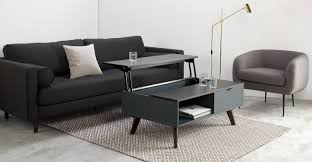 aveiro coffee table dark stain oak and grey made com