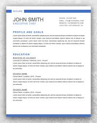 Executive Chef Resume Sample by Resume Template Start Professional Resume Templates For Word