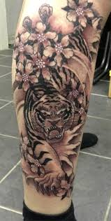 tiger and cherry blossoms by blacklotusta2 on deviantart