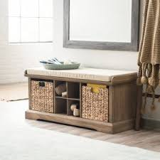 entry way storage bench entryway benches hayneedle