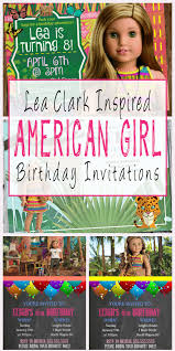 lea clark inspired american birthday party invitations and