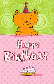 Birthday Card Ai Cute Cat Birthday Cards Creative Vector Free Vector In Adobe