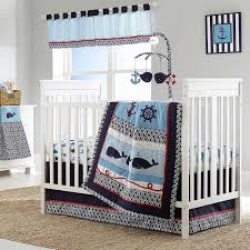 Nautical Baby Crib Bedding Sets Nautical Sailing Whales Baby Boys Nursery 4 Infant