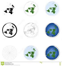 Azimuthal Map Azimuthal Equidistant Projection Map Of Earth Stock Illustration