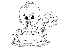 cute baby coloring pages coloringstar