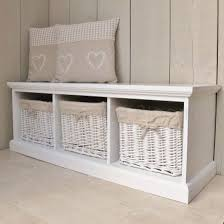 Storage Seat Bench White Bench Storage Ideas For Seat With Baskets Interior Bench