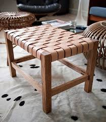 diy project matt u0027s woven leather stool u2013 design sponge