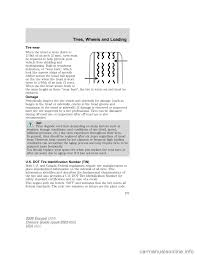 tire pressure ford escape 2008 2 g owners manual