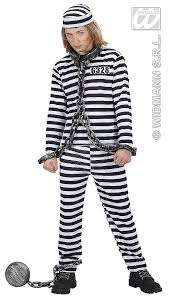 halloween inmate costume boys convict costume partyworld