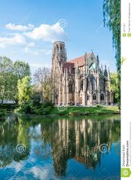 Saint Johns Protestant Church Over The Fire Lake In Stuttgart