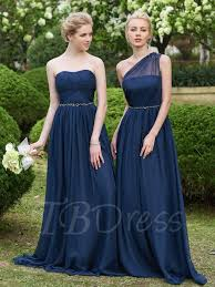one shoulder beading ruched a line floor length bridesmaid dress - Bridesmaid Dresses