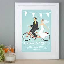 wedding gift personalised wedding gift and groom print by audrinka
