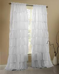Childrens Curtains Girls Amazon Com Gee Di Moda White Ruffle Curtains Gypsy Lace Curtains