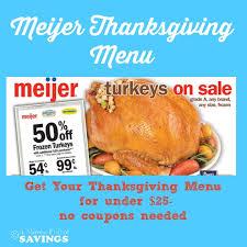 meijer mealbox meijer meal planning thanksgiving menu 24