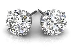 diamond stud diamond studs diamond stud earring in gold and platinum