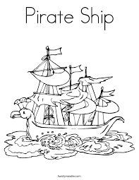 pirate ship coloring twisty noodle