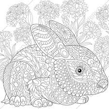 easter bunny coloring zentangle doodle coloring