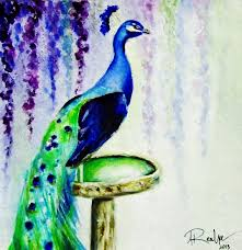 peacock painting by andrea realpe youtube