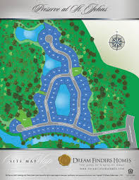 St Johns Florida Map by Preserve At St Johns Dream Finders Homes
