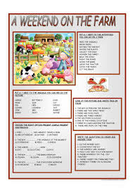194 free esl farm worksheets