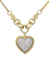 diamond heart gold necklace images D 39 oro by effy diamond pav diamond heart pendant 3 4 ct t w in tif