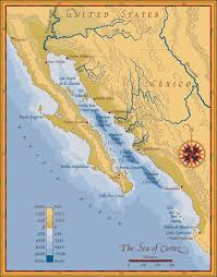 Cabo San Lucas Mexico Map by Gulf Of California Map California Map