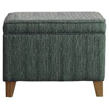 Homepop Storage Ottoman Medium Storage Ottoman Aegean Blue Homepop Target