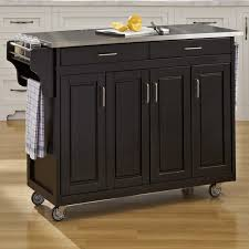 kitchen island cart with stainless steel top august grove regiene kitchen island with stainless steel top