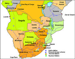 Southern Africa Map Southern African Power Pool