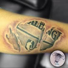 basketball illusion tattoo 3d illusion forearm tattoo on