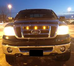 Ford Raptor Grill Lights - ford f 150 raptor style grille light kits by custom auto works