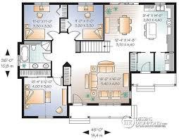 plan de maison 3 chambres salon plan de maison chambres salon idées design plan de maison 3 chambres