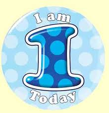 1st birthday 1st birthday badge blue party wizard