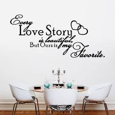 home decals for decoration love story heart home decal wedding bedroom decoration wall