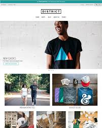 Online Clothing Store Website Builder District Theme District Ecommerce Website Template