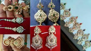 rajputi earrings goldn rajputi earrings indian design new fancy rajputi earrings