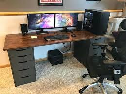 Gaming Desk Ideas Ikea Pc Desk Computer Desks For Small Spaces Ikea Desk Design