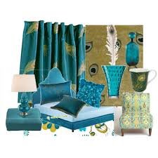 Peacock Blue Chair Peacock Room Polyvore
