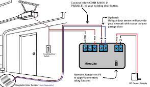 garage door sensor wiring diagram how to wire a garage door opener