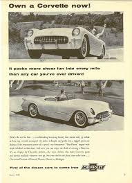 corvette parts in michigan vues magazine 1954 corvette magazine ad1954 corvette