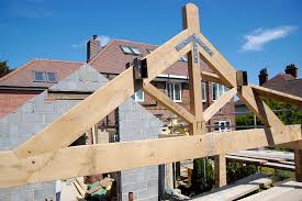 king post trusses air dried oak hector and cedric