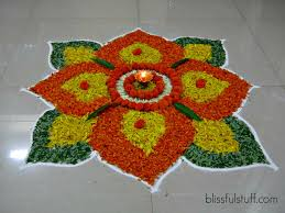diwali special rangoli design with marigold flowers how to make