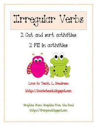 love to teach irregular verb activity