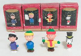 hallmark peanuts a brown ornaments set of 4