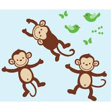 three monkey sticker for kids rooms three monkey decals for kids rooms