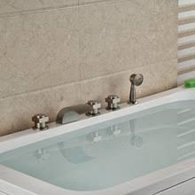 3 Handle Bathtub Faucet 3 Handle Tub Shower Faucet Brushed Nickel Promotion Shop For