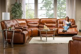 Electric Reclining Leather Sofa Leather Power Reclining Sectional At Gardner White